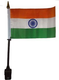 Salvus App SOLUTIONS Indian National Flag For Universal Bike/Car -30 x 20 x 1.5 (LxBxH) cm