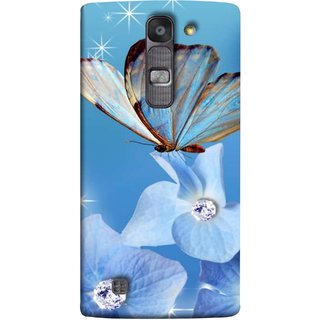 FUSON Designer Back Case Cover for LG G4 Mini :: LG G4c :: LG G4c H525N (In Center Glitter Diamonds Flowers Butterfly Nature)