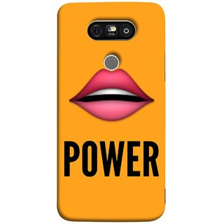 FUSON Designer Back Case Cover for LG G5 ::  LG G5 Dual H860N :: LG G5 Speed H858 H850 VS987 H820 LS992 H830 US992 (Power Of Kiss Words Red Lips Pinky Flying Kisses Girl Lovers )