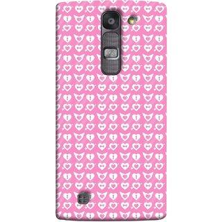FUSON Designer Back Case Cover for LG G4 Mini :: LG G4c :: LG G4c H525N (Valentine Pink Metallic Cool Peace Sign Symbol Pillow)