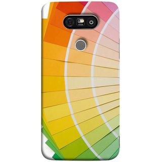 FUSON Designer Back Case Cover for LG G5 ::  LG G5 Dual H860N :: LG G5 Speed H858 H850 VS987 H820 LS992 H830 US992 (Papers Sheets White Circle Round Beautiful Lining )