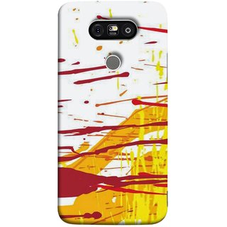 FUSON Designer Back Case Cover for LG G5 ::  LG G5 Dual H860N :: LG G5 Speed H858 H850 VS987 H820 LS992 H830 US992 (Artwork Acid Bright Wallpaper Yellow Shades)