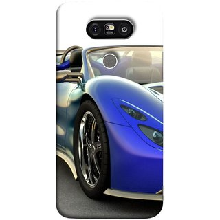 FUSON Designer Back Case Cover for LG G5 ::  LG G5 Dual H860N :: LG G5 Speed H858 H850 VS987 H820 LS992 H830 US992 (Italia Wild Beautiful Design Tyres Front Lights )