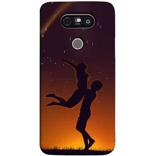 FUSON Designer Back Case Cover for LG G5 ::  LG G5 Dual H860N :: LG G5 Speed H858 H850 VS987 H820 LS992 H830 US992 (Milky Way Stars Love Couples Lovers Family Love)