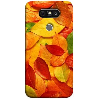 FUSON Designer Back Case Cover for LG G5 ::  LG G5 Dual H860N :: LG G5 Speed H858 H850 VS987 H820 LS992 H830 US992 (Multicolour Dry Leaves Painting Bright Sunny Day )