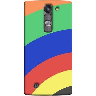 FUSON Designer Back Case Cover for LG G4 Mini :: LG G4c :: LG G4c H525N ( Large Medium Circles Orange Yellow Red Blue Grey)