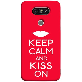 FUSON Designer Back Case Cover for LG G5 ::  LG G5 Dual H860N :: LG G5 Speed H858 H850 VS987 H820 LS992 H830 US992 (Beautiful Lips Always Stay Silent And Kiss Other Work Resolve)