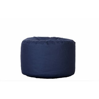 Comfy Bean Bags - Corner Puffy Bean Bag - For Outdoors - Size Large - Filled With Beans Filler ( Indigo )