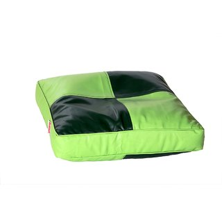 Comfy Bean Bags - Floor Cushion Bean Bag - Size Large - Filled With Beans Filler ( Pista Green Dark Green )