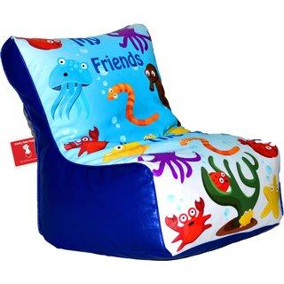 Comfy Bean Bags - Bean Chair Bean Bag - Printed - Size Kids Bean Bag - Filled With Beans Filler ( My Friends )