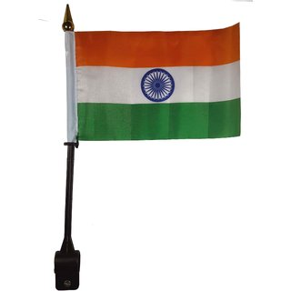 Indian National Flag For Bike / Car -30 x 20 x 1.5 (LxBxH) CM