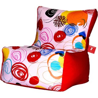 Comfy Bean Bags - Bean Chair Bean Bag - Printed - Size Kids Bean Bag - Filled With Beans Filler ( Abstract Pink )