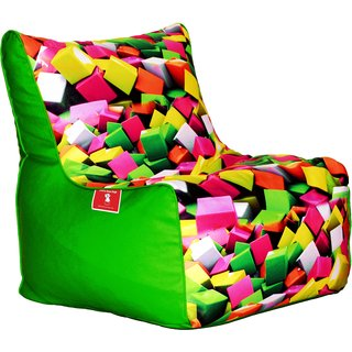 Comfy Bean Bags - Bean Chair Bean Bag - Printed - Size Kids Bean Bag - Filled With Beans Filler ( Cube )