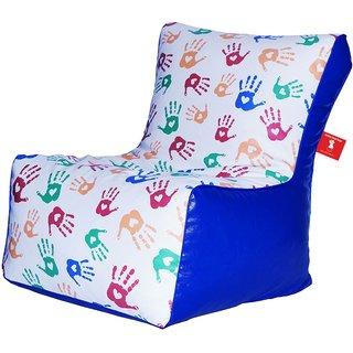 Comfy Bean Bags - Bean Chair Bean Bag - Printed - Size Kids Bean Bag - Filled With Beans Filler ( Hand Print )