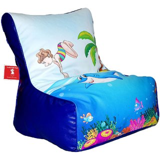 Comfy Bean Bags - Bean Chair Bean Bag - Printed - Size Kids Bean Bag - Filled With Beans Filler ( Beach )