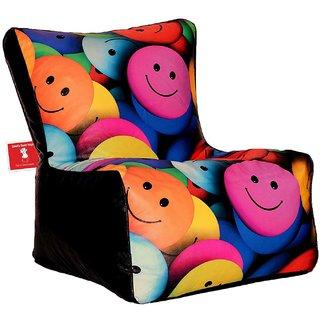 Comfy Bean Bags - Bean Chair Bean Bag - Printed - Size Kids Bean Bag - Filled With Beans Filler ( Smiley )
