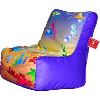 Comfy Bean Bags - Bean Chair Bean Bag - Printed - Size Kids Bean Bag - Filled With Beans Filler ( Fish )