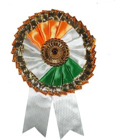 Indian National Flag Batch / Brooch / Badge for Clothing Accessories (Pack of 4)