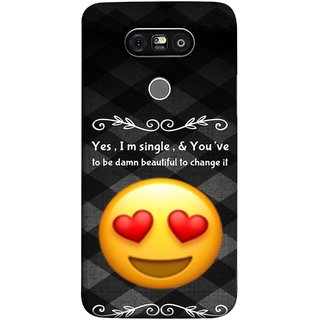 FUSON Designer Back Case Cover for LG G5 ::  LG G5 Dual H860N :: LG G5 Speed H858 H850 VS987 H820 LS992 H830 US992 (Damn Beautiful To Change It Hearts Love Pure Smiley)