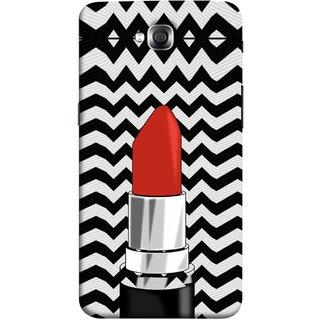 FUSON Designer Back Case Cover for LG G Pro Lite :: LG Pro Lite D680 D682TR :: LG G Pro Lite Dual :: LG Pro Lite Dual D686 (Red Lipstick Lips Shade Wave Patterns Black)