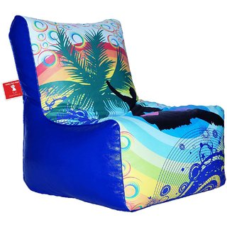 Comfy Bean Bags - Bean Chair Bean Bag - Printed - Size Kids Bean Bag - Filled With Beans Filler ( Rainbow )