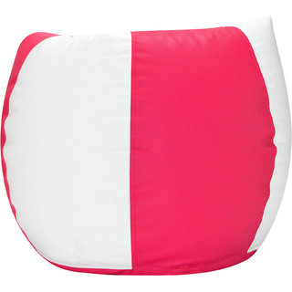 Comfy Bean Bags - Bean Bag - Size Xxxl - Filled With Beans Filler ( Pink White )