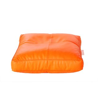 Comfy Bean Bags - Floor Cushion Bean Bag - Size Large - Filled With Beans Filler ( Orange )