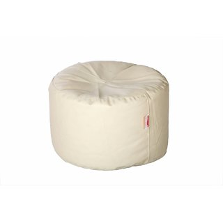 Comfy Bean Bags - Corner Puffy Bean Bag - Size Large - Filled With Beans Filler ( White )