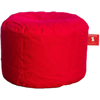 Comfy Bean Bags - Corner Puffy Bean Bag - Size Large - Filled With Beans Filler ( Red )
