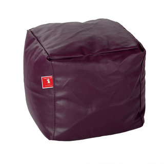 Comfy Bean Bags - Bean Bag Footrest - For Outdoors - Size Small - Filled With Beans Filler ( Wine )