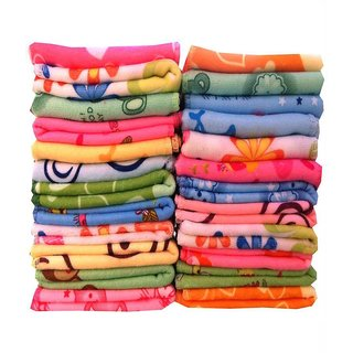 Peponi Set of 12 Flower Design Cotton Face Towels/hanky size (26x26cm) at Shopclues  ₹ 149