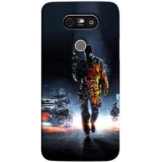 FUSON Designer Back Case Cover for LG G5 ::  LG G5 Dual H860N :: LG G5 Speed H858 H850 VS987 H820 LS992 H830 US992 (Army War Secret Missions Country Saver Fighter )