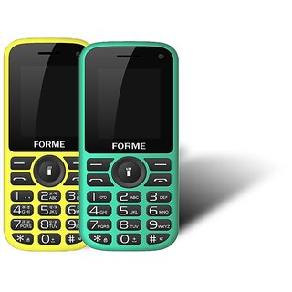 Forme N5+(Combo Of 2 Selfie Phones) Green+Black With Ye