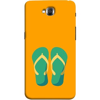 FUSON Designer Back Case Cover for LG G Pro Lite :: LG Pro Lite D680 D682TR :: LG G Pro Lite Dual :: LG Pro Lite Dual D686 (Green Chapplas With Yellow Belts On Orange Back)