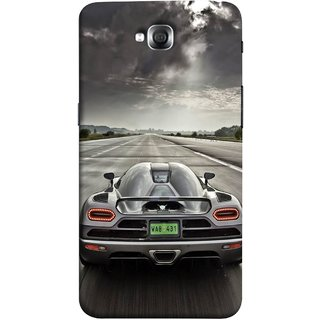 FUSON Designer Back Case Cover for LG G Pro Lite :: LG Pro Lite D680 D682TR :: LG G Pro Lite Dual :: LG Pro Lite Dual D686 (Trees Silver Sports Car Led American Muscle Cars)
