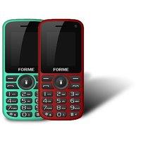 Forme N5+(Combo Of 2 Selfie Phones) Red+Black With Gree