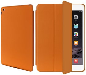 AirCase Polyurethane Smart Case with Foldable Stand for iPad Air TAN