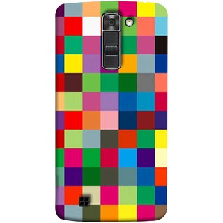FUSON Designer Back Case Cover for LG K10 :: LG K10 Dual SIM ::  LG K10  K420N K430DS K430DSF K430DSY  (Triple Monitor Multi Multiple Screen Brique Cube)