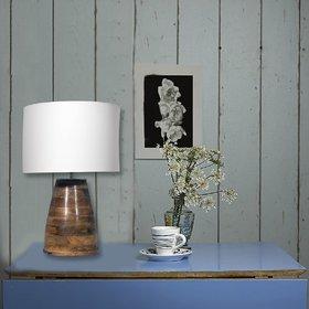 UJJALA Natural Wood Table Lamp With Shade