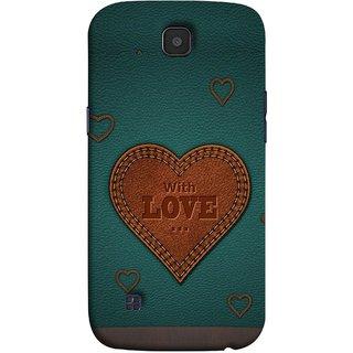 FUSON Designer Back Case Cover for LG K3 ::  LG K3 Dual K100 LS450 (Dil Se Tumhare Sath Always Leather Jacket Hearts)