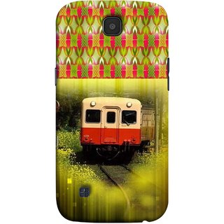 FUSON Designer Back Case Cover for LG K3 ::  LG K3 Dual K100 LS450 (Old Trains Sunshine Yellow Flowers Express Mail )