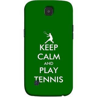 FUSON Designer Back Case Cover for LG K3 ::  LG K3 Dual K100 LS450 (Tennis Player Logo Keep Silent And Cool Game On)