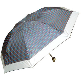 PEEPALCOMM 3 Fold Multicolor Designed Manual Openable Umbrella
