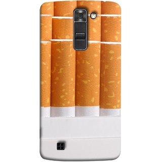 FUSON Designer Back Case Cover for LG K7 :: LG K7  Dual SIM :: LG K7 X210 X210DS MS330 :: LG Tribute 5 LS675  (Cigarettes Case White Tobacco Foreign Lighter Light)