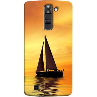 FUSON Designer Back Case Cover for LG K7 :: LG K7  Dual SIM :: LG K7 X210 X210DS MS330 :: LG Tribute 5 LS675  (Sailing Ships Sailboats Ocean Pond Sea River)