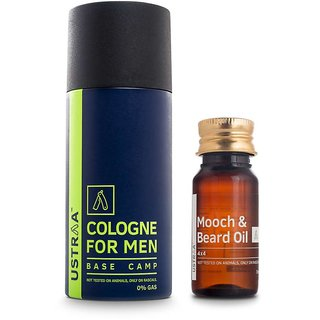 Ustraa By Happily Unmarried Cologne Spray  Beard Oil 4x4