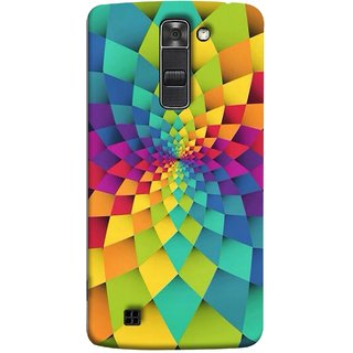 FUSON Designer Back Case Cover for LG K7 :: LG K7  Dual SIM :: LG K7 X210 X210DS MS330 :: LG Tribute 5 LS675  (Polygonal Background Colorful Abstract Geometric Best)