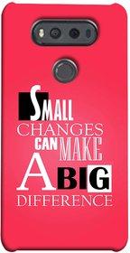 FUSON Designer Back Case Cover for LG V20 Dual H990DS :: LG V20 Dual H990N (Chote Chote Badlav Bada Farak Best Quotes Sayings)