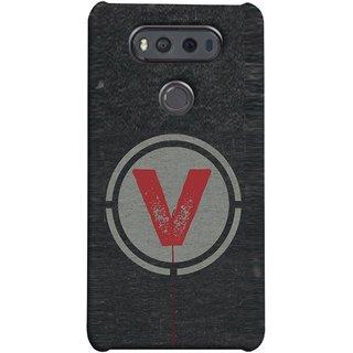 FUSON Designer Back Case Cover for LG V20 Dual H990DS :: LG V20 Dual H990N (V Is Ok Initial Red Glossy Round Icon V Random Red)