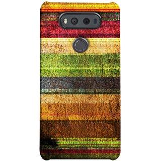 FUSON Designer Back Case Cover for LG V20 Dual H990DS :: LG V20 Dual H990N (Horizontal Rainbow Painted Brush Strokes Art)